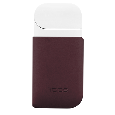 Leather Clip IQOS 2.4 Plus - Burgundy (Peninsula and Balearic Islands), Burgundy, large