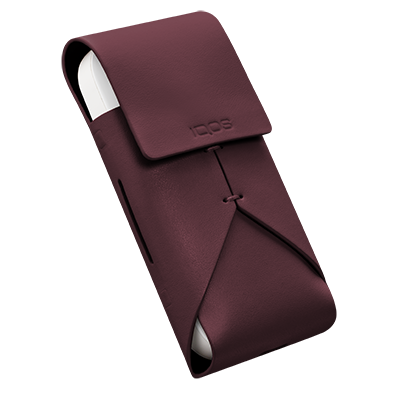 Leather Pouch IQOS 2.4 Plus - Burdeos (Peninsula and Balearic Islands), Burgundy, large
