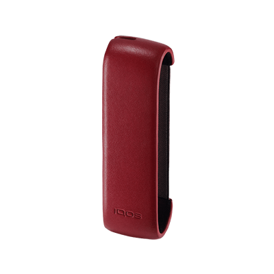 Leather Sleeve IQOS 3 - Deep Red (Canary Islands), Deep Red, large