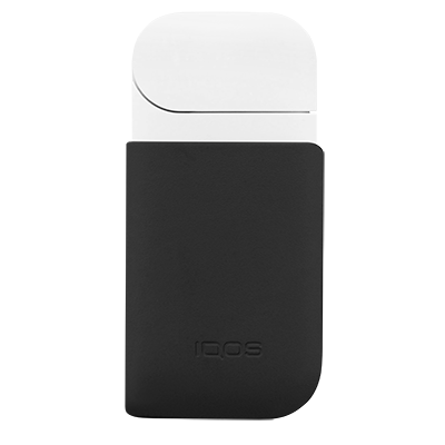 Leather Clip IQOS 2.4 Plus - Black  (Canary Islands), Black, large