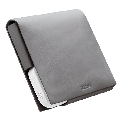 IQOS 2.4 Plus Leather Wallet (Small) Grey (Peninsula and Balearic Islands), Grey, large