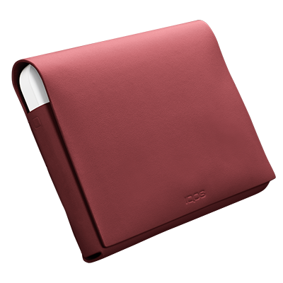 IQOS 2.4 Plus Leather Wallet (medium) Red (Peninsula and Balearic Islands), Red, large