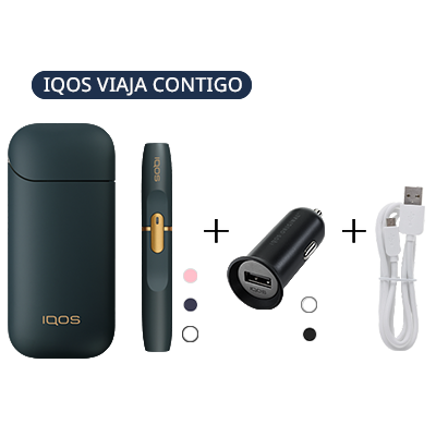 Pack: IQOS 2.4 Plus Kit + IQOS Car Charger + IQOS USB Cable (Canary Islands), , medium
