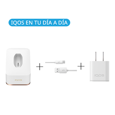 Pack: Cargador de Mesa IQOS 2.4 Plus + Cable USB + Adaptador de corriente (Canarias), , medium