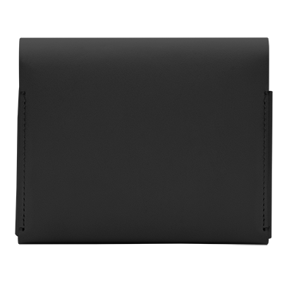 IQOS 2.4 Plus Leather Wallet (medium) Black (Canary Islands), Black, large