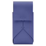 Leather Pouch - Purple, Periwinkle, medium