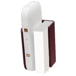 Leather Clip IQOS 2.4 Plus - Burgundy (Peninsula and Balearic Islands), Burgundy, medium