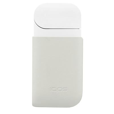 Leather Clip IQOS 2.4 Plus - Cream (Peninsula and Balearic Islands), Cream, large