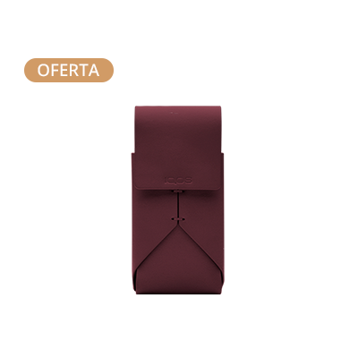 Leather Pouch IQOS 2.4 Plus - Burgundy (Peninsula and Balearic Islands), Burgundy, large