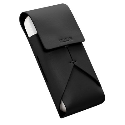 Leather Pouch IQOS 2.4 Plus - Black (Peninsula and Balearic Islands), Black, large