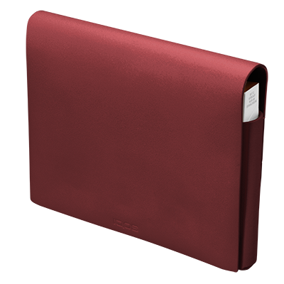 IQOS 2.4 Plus Leather Wallet (medium) Red (Canary Islands), Red, large