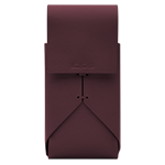 LEATHER POUCH, Burgundy, medium